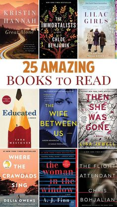 25 Best Books to Read in 2019 - Five Spot Green Living - - Another one of my goals for 2019 (a. New Year Resolutions) is to read more books. Find out the best fiction books to read in Books To Read For Women, Best Books To Read, Great Books, New Books, Spot Books, Best Books Of All Time, Book To Read, Books To Read In Your 20s, Best Books To Gift