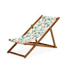 Tropicale Chilienne / Chaise longue de jardin motifs tropicaux