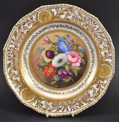 A FINE DERBY KING STREET FACTORY CABINET PLATE painted : Lot 275
