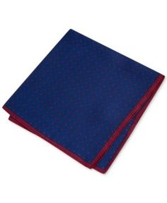 Club Room Men's Dot Pocket Square, Only at Macy's - Red/navy