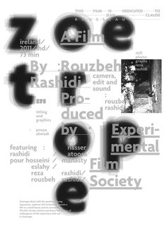 Pouya Ahmadi, Experimental Film Society (via typo/graphic posters)