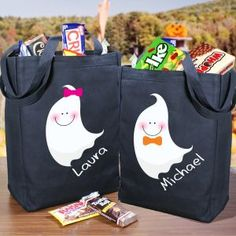 Personalized Halloween Ghost Trick or Treat Bag