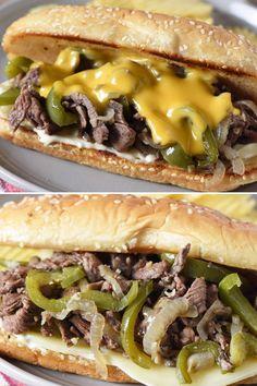 Philly Steak Sandwich, Steak Sandwich Recipes, Philly Cheese Steak Sandwich Recipe Easy, Steak And Cheese Sub, Cheese Steaks, Steak Sandwiches, Shaved Steak Recipe, Top Sirloin Steak Recipe, Best Philly Cheesesteak
