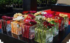 inspiratie voor  #germini #gerbera #bloemen #tafeldecoratie #boeket #bouquet #floral #bloemschikken