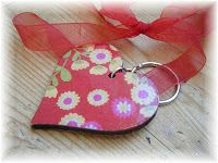 Driftwood and Debris - heart key ring