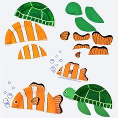 Nemo 3D Papercraft | Procurando nemo