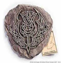 Celtic thistle plaque Make into a stencil, maybe...-v