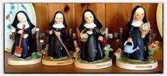 A complete set of Erich Stauffer 'seasonal' nuns.