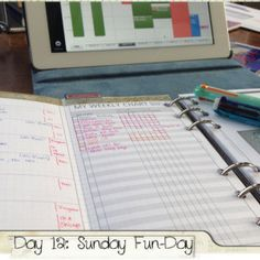 #fflovephotoaday Day 12: Sunday Fun-Day #filofax #personal #malden #diyfish #lifemapping #ipad #weekcalhd