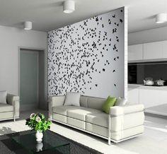 Декоративная перегородка, разделяющая помещение на две зоны