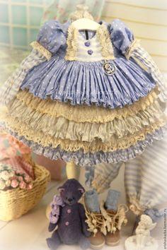 Одежда для кукол ручной работы. Заказать Комплект для куклы  стиль бохо , шебби шик. Кукольные нежности от Ариши. Ярмарка Мастеров.