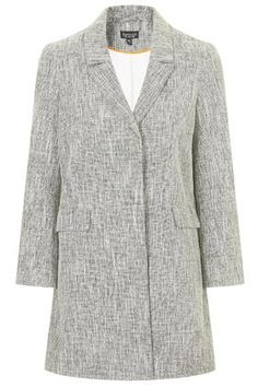 Salt and Pepper Slim Fit Coat