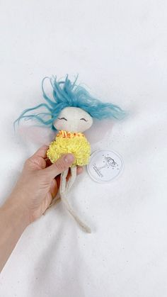 Fairy doll / Handmade Beautiful Fairies, Beautiful Dolls, Pink Tulle, Joy And Happiness, Fairy Dolls, Tooth Fairy, Handmade Dolls, Cool Baby Stuff, Cute Designs