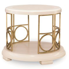 Legacy Classic Furniture 5010-408 Tower Suite Round End Table in Pearl