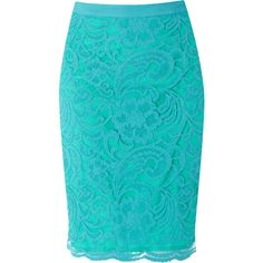 Warehouse Lace Skirt found on Polyvore from @The Farmer's Trophy Wife