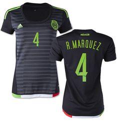 Mexico Jersey 2015 16 Jersey Women s Home Soccer Shirt  4 Rafael Marquez for   16 on Soccer777.net 17ea019d7