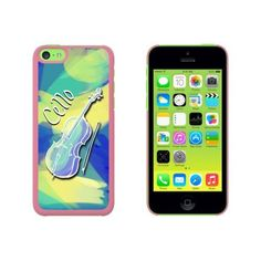 Cello - Musical Instrument Music Strings Band Orchestra Case for Apple iPhone 5C, Pink
