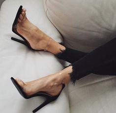 Perspex and black heels