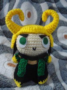 Loki the Pon, the God of Mischief Doll - Free Amigurumi Pattern here: http://duchessgala.blogspot.com.es/2015/02/loki-de-pon.html