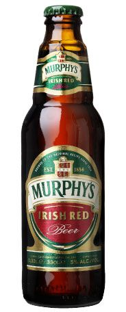 Murphy's Irish Red. Irish red ales get their reddish hue from the small amounts of roasted barley they contain.