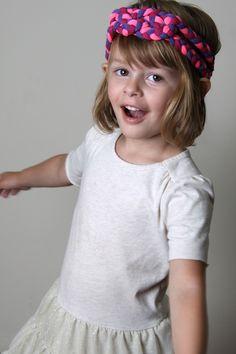 Pink & Purple Braided Headband - Necklace - Toddler
