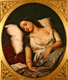Pleasant Dreams, 1852, Henry Nelson O'Neil. Russian. Active in English (1817-1880)