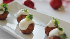 The Perfect Christmas Dinner:: Canapes :: Spicy Chicken Christmas Puddings