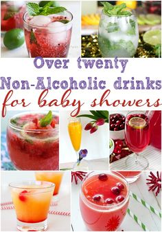 Over Twenty Non Alcoholic Drinks for Baby Showers, Baby Shower Drink Ideas, Drink Recipes, Non Alcoholic Drink Recipes #babyshower #foodforbabyshowers #drinkideas #beverages #babyshowerideas #pregnant #baby #pregnancy #nonalcoholic