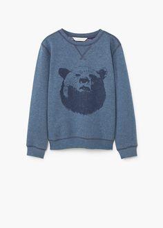 Cartoon cotton sweatshirt | MANGO KIDS