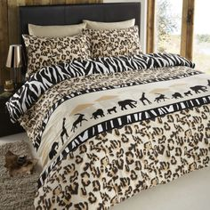 Duvet cover set in an animal print theme. This safari style duvet cover set brings life to your bedroom. Cheap duvet cover sets from UK sellers