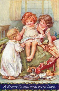 Коллекция картинок: Винтажные открытки к рождеству...A.L. Bowley
