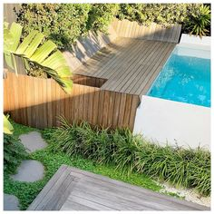 """Bondi Landscapes's Instagram post: """"It's time to soak up the sun right there by the pool on that custom deck with a built in daybed. Oh the life, a backyard green with envy. .…"""" Built In Daybed, Custom Decks, Swimming Pools, Backyard, Landscape, Building, Outdoor Decor, Green, Instagram Posts"""