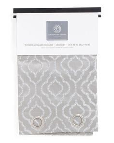 38x84 Set Of 2 Textured Jacquard Curtains - Home - T.J.Maxx