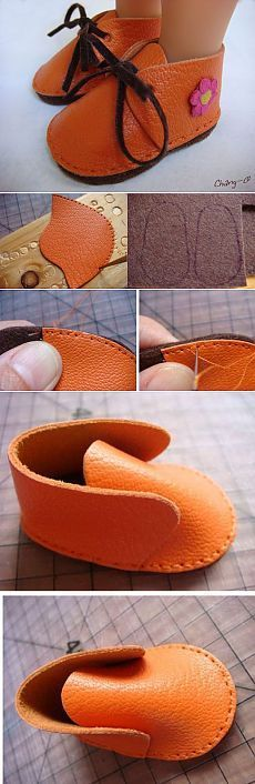 Deri kumaştan bebek patik yapmak için paylaştığım çalışmayı sizde yapm… You may consider doing the work I shared to make baby booties made of leather fabric. He thinks that you can easily do the work I shared to make your children leather booties… American Girl Clothes, Girl Doll Clothes, Girl Dolls, Baby Dolls, American Girls, Barbie Clothes, Doll Crafts, Diy Doll, Doll Shoe Patterns