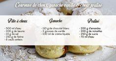 chéri(e), c'est moi le chef - Recette du 15/03/17 : couronne de choux - ganache vanille - coeur praliné