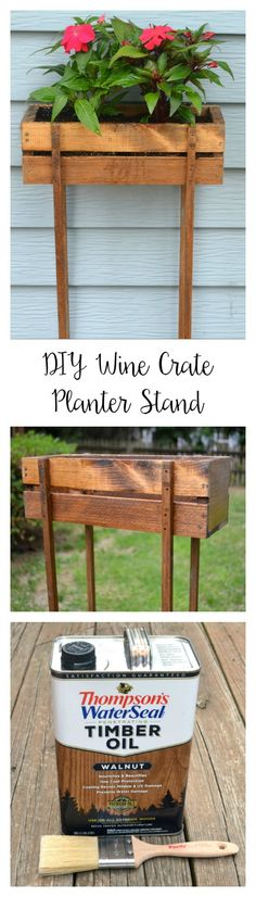 Wood Planter Stand