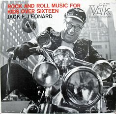 Jack E. Leonard - Rock And Roll Music For Kids Over Sixteen, RCA Vik LX-1080, mono [1956]