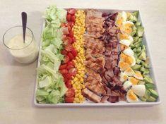 Cobb Salad With Creamy Mustard Dressing