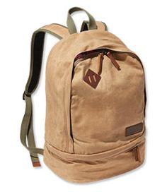 LLBean  Teardrop Waxed Canvas Backpack Ll Bean Backpack 6aa17ad2b758a