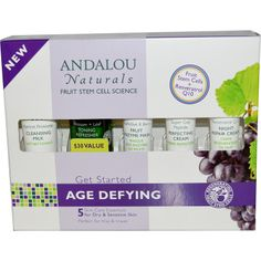 Andalou Naturals, Get Started Age Defying, Skin Care Essentials, 5 Piece Kit First Time orders Discount use code tqc559