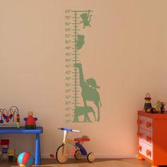 Jungle Animals Growth Chart Wall Sticker 94 x 31cm by Mirrorin, £13.99