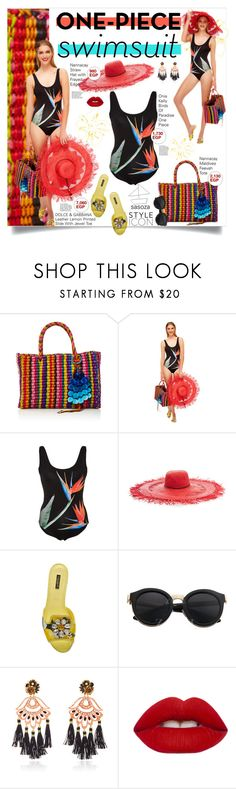 """summer Vibes by Sasoza"" by sasooza ❤ liked on Polyvore featuring ONIA, Dolce&Gabbana, Mercedes Salazar and Lime Crime"