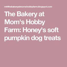The Bakery at Mom's Hobby Farm: Honey's soft pumpkin dog treats