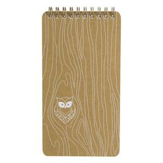 Wood Grain Owl Tablet by Girl of All Work - FranklinCovey