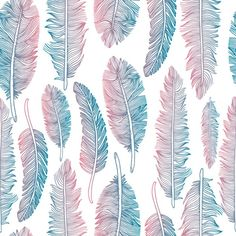 Colorful tribal feather pattern Free Vector