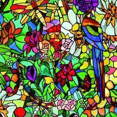 Fel gekleurd raamfolie plakfolie 200-3231, uit de collectie DC-fix collectie, koop je bij kleurmijninterieur