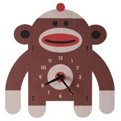 Sock Monkey Clock
