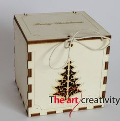 Scatoline in legno porta dono e/o portacandela tealight. http://www.theartcreativity.com/