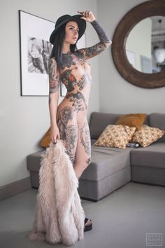 Beautiful Tattooed Girls & Women Daily Pictures. For your Inspiration #girlsw Girls Tattoo Ideas #tattoo #tattooed #tattooedgirls #tattooedgirl #babeswithtats #tattooedmodel