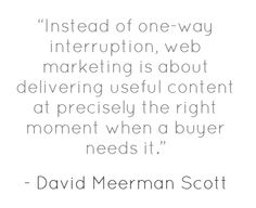 So True. The internet gives you a way to get in front of people who are activily looking for you - RIGHT NOW!